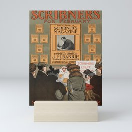 retro scribners for february   tommy and grizel by j.m. barrie. 1900  Mini Art Print