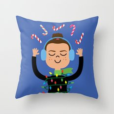 Holiday with Candy Throw Pillow
