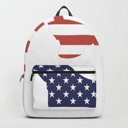 Bearded-Collie-tshirt,-patriotic-Bearded-Collie Backpack