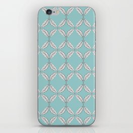 Seamless Leaves Pattern Turquois iPhone Skin
