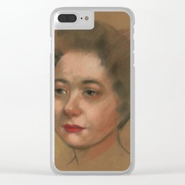 Jane Doe 2, nice pastel portrait from 40's. Clear iPhone Case