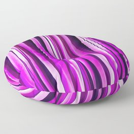 Plum Purple and and Burgundy Stripy Lines Pattern Floor Pillow
