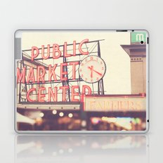 6:20. Seattle Pike Place Public Market photograph Laptop & iPad Skin