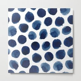 Watercolor polka dots Metal Print