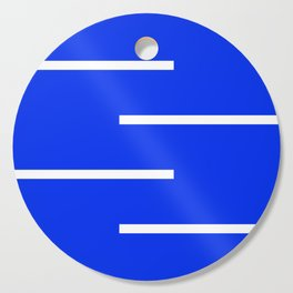 Abstract Minimal Retro Stripes Blue Cutting Board