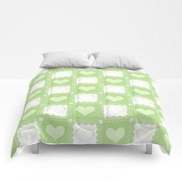 Love is Green Comforters