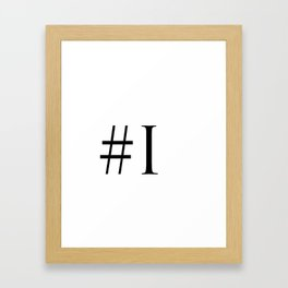 Hashtag I Framed Art Print