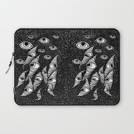 Darting Glances and Hooked Stares Laptop Sleeve