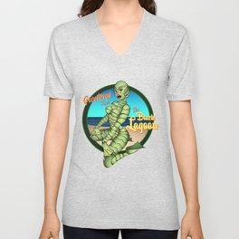 Greetings from the Black Lagoon Unisex V-Neck