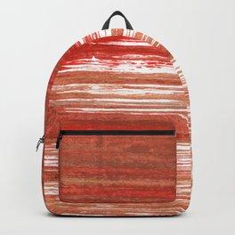 Medium carmine abstract watercolor Backpack
