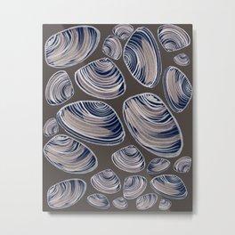 Night Oysters Metal Print