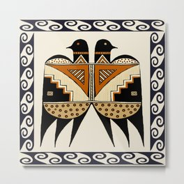 Mimbres Twin Birds Metal Print