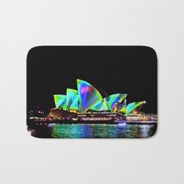 Sydney Opera House Vivid Light Show Bath Mat