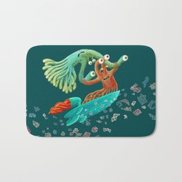 Surfing Monsters Bath Mat