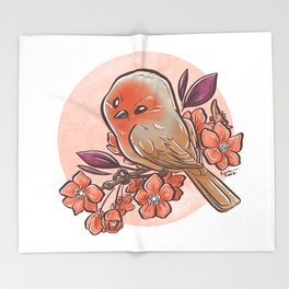 Spring Bird Throw Blanket