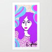 hippie Art Prints featuring hippie by Iris & Ino