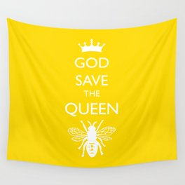 God Save the Queen (Bee) Wall Tapestry