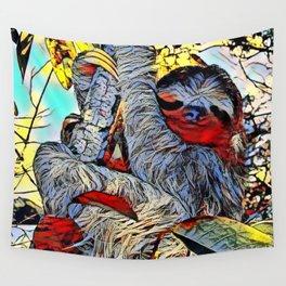 Color Kick -Sloth Wall Tapestry