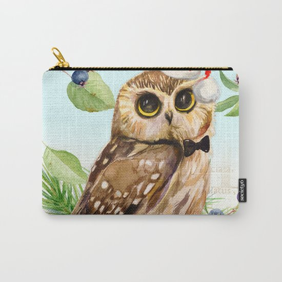 Winter animal #1 Carry-All Pouch