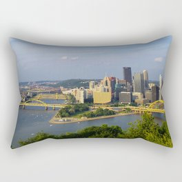 Rivers of Steel Rectangular Pillow