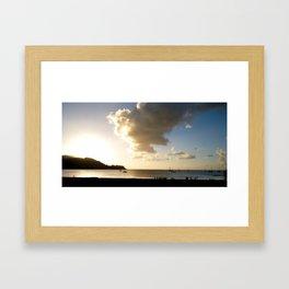 Hanalei Bay at Sunset, Hawaii Framed Art Print