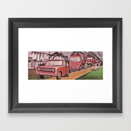 Conveying Cars Framed Art Print
