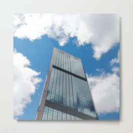 Blue Sky Reflections in a City Skyscraper by Sydney Harbour Metal Print