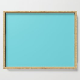 From The Crayon Box – Turquoise Blue - Bright Blue Solid Color Serving Tray