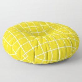 Grid Pattern Yellow 2 Floor Pillow