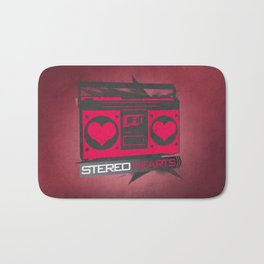 Stereo Hearts Bath Mat