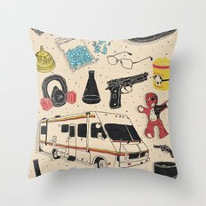 Artifacts: Breaking Bad Throw Pillow