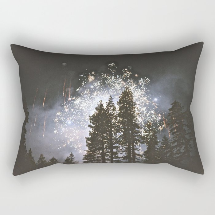 Fireworks In the night sky Rectangular Pillow