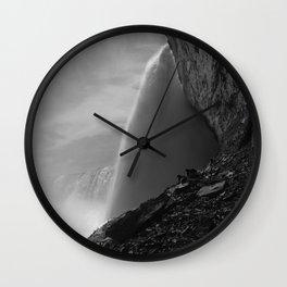 Journey behind the falls Niagara Wall Clock