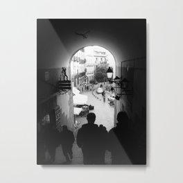Salida Secreta de la Plaza Mayor - B&W street photography Metal Print