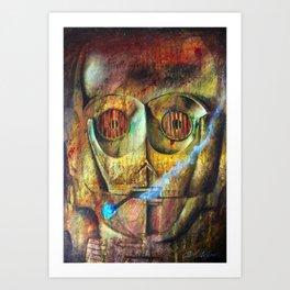 Rebel C3Po painting Art Print