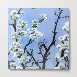 Flowering Tree on Fairview Metal Print