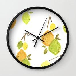 Lemons & Limes Kitchen print Wall Clock