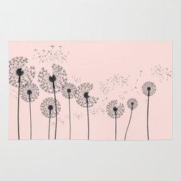 Contemporary Dandelion Drawing Rug