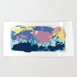 COTTON CANDY CLOUDS Beach Towel