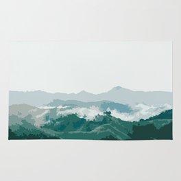 Foggy mountain Rug