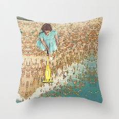 OCD Lady Throw Pillow