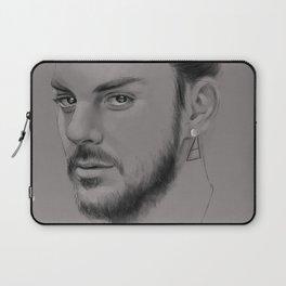 Shannon Leto digital Portrait grey LLFD Laptop Sleeve