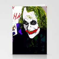 joker Stationery Cards featuring joker by Saundra Myles