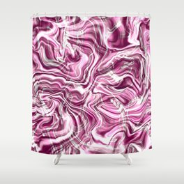 Pink marble textured pattern Shower Curtain