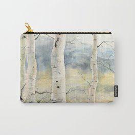 Tender Birch Forest Carry-All Pouch