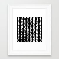 knit Framed Art Prints featuring Knit 8 by Project M