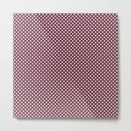 Garnet and White Polka Dots Metal Print