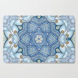 blue flowers  Cutting Board