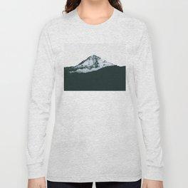 Mount Hood Black and White Long Sleeve T-shirt