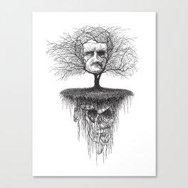Edgar Allan Poe, Poe Tree Canvas Print
